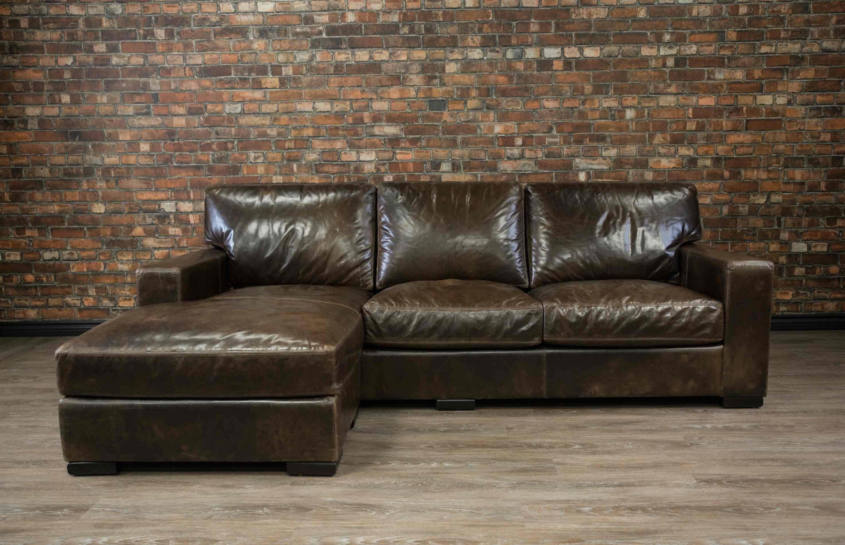 Deep seat leather sofa extra deep leather sofa catosfera for Deep seated sectional sofa canada