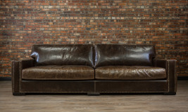 deep seat chart well leather sofa