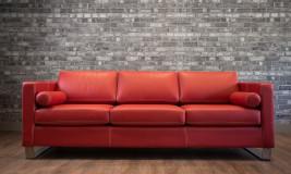 Leather sofa trento