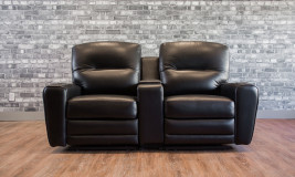 Leather reclining seats
