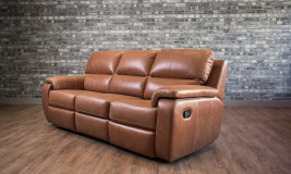 leather recliner lazio