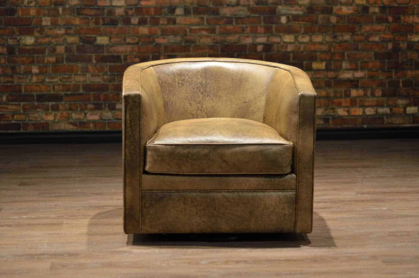 The Tub Leather Swivel Chair Collection Canada S Boss