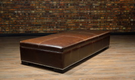 leather ottoman large