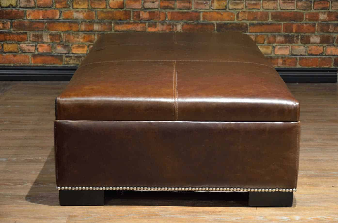 Coffee Table Ottoman Large Canada S Boss Leather Sofas
