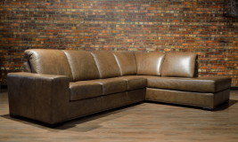 leather sofa Canadiana Straight Arm