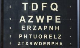 eye chart decorative