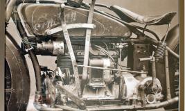 vintage harley in grey scale