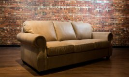 Denver Collection leather sofa