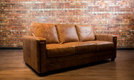 Dakota collection leather sofa