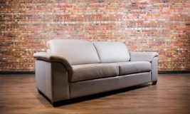 Canadiana Leather Sofa