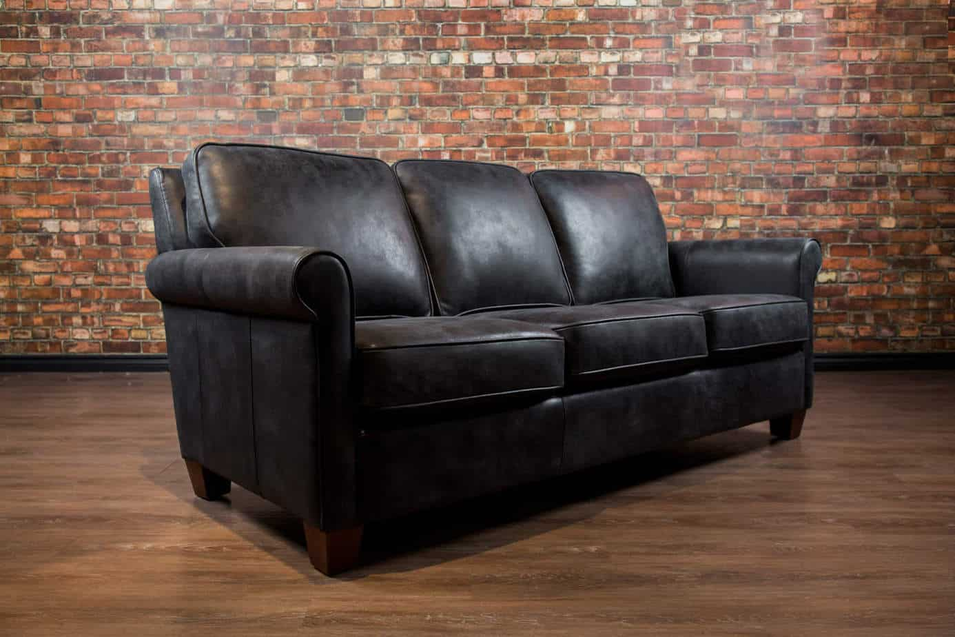 The chicago leather sofa canada 39 s boss leather sofas and for Home styles furniture canada