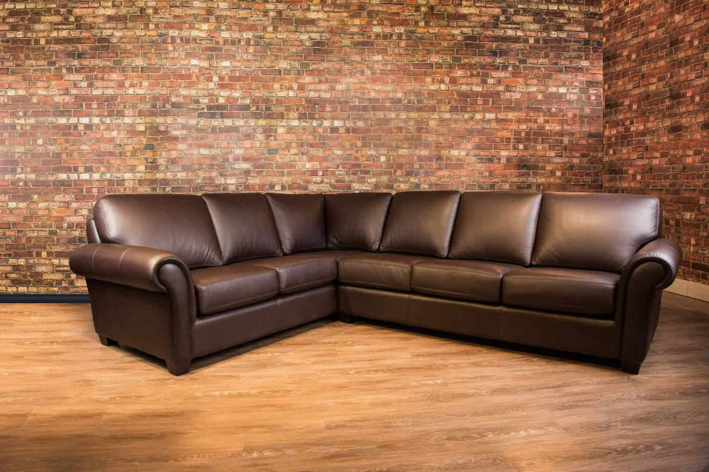 Leather sectional sofas ashley furniture leather for Leather sectional sofa bed canada