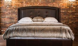 Leather King Bed