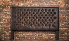 tufted leather headboard