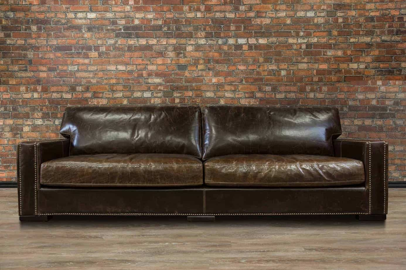 Leather Furniture Traveler Collection: Chartwell Collection Extra Large Sofa Deep Seat Series