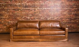 collins large leather sofa