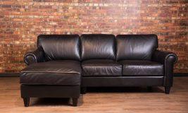 Bay street leather sofa