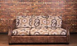 Iowa leather fabric combo