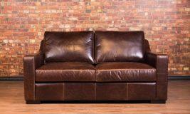 Loft leather loveseat