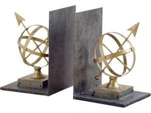 Gold Metal Compass Sculpture