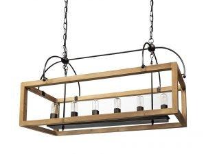 wood box lights