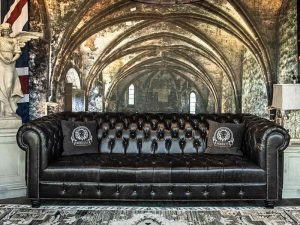 royalty tufted leather sofas