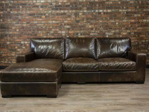 leather sofa maxell deep seat chaise