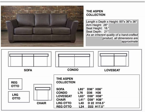 ASPEN COLLECTION SOFA