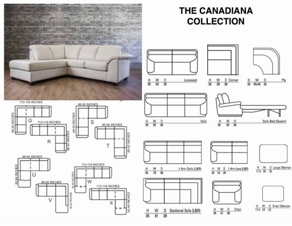 leather sectional CANADIANA SECTIONAL