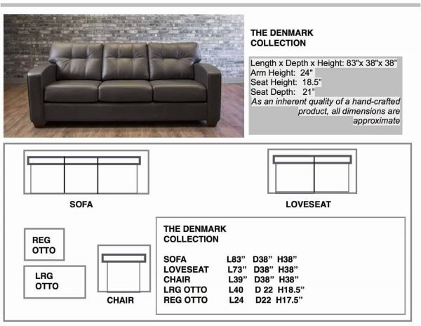 leather sofa DENMARK COLLECTION