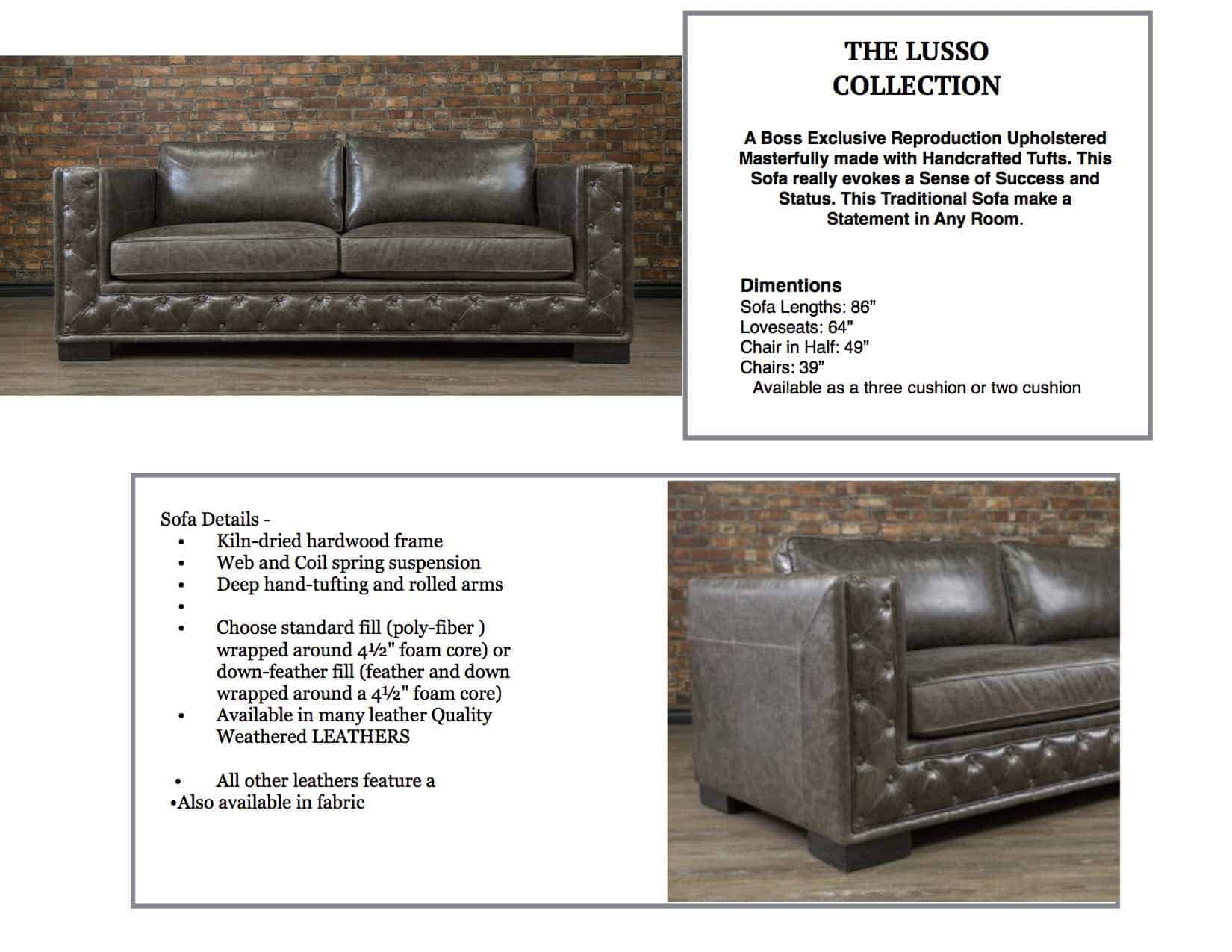 IL Lusso Leather Sofa | Canada\'s Boss Leather Sofas and Furniture