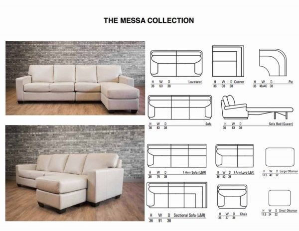 leather sofa MESSA COLLECTION