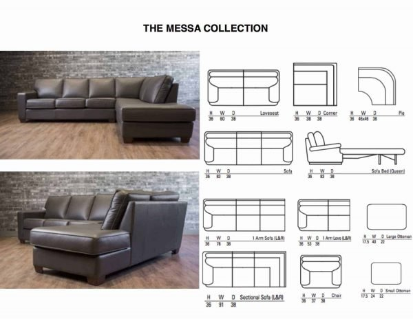 leather sectional mesa