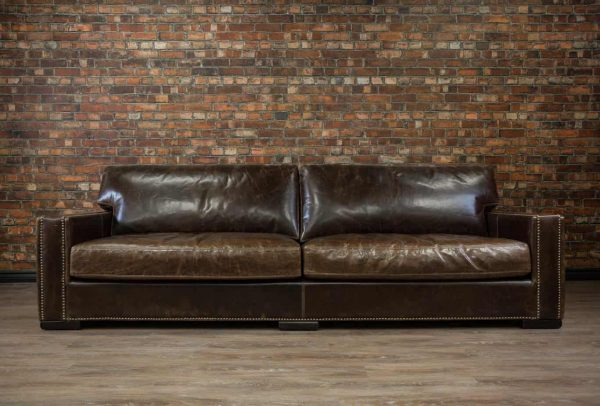 deep seat chart well leather sofa