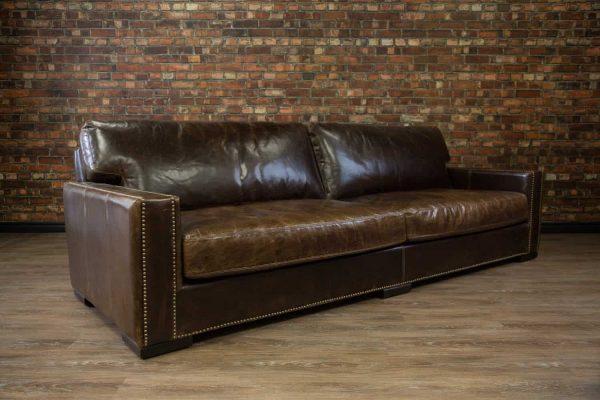 108 deep seat leather sofa