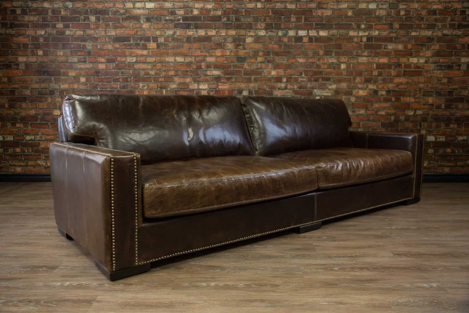 Chartwell Super Sized Deep Seat Leather Sofa Canada S