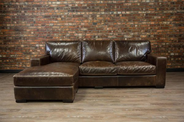 maxwell chaise deep seat leather sofa