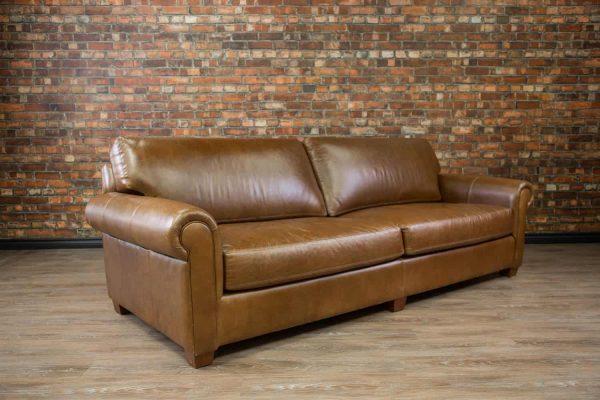 leather Sofa deep seat Lancelot