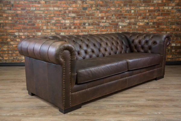 Leather sofa King arthur angled