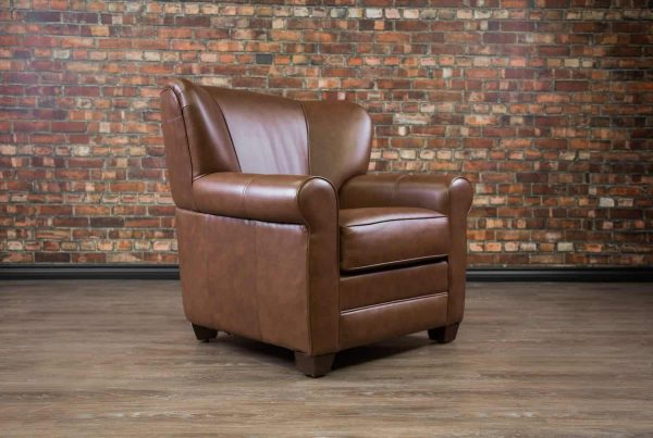 Leather Chairs Cigar chair envelope arm