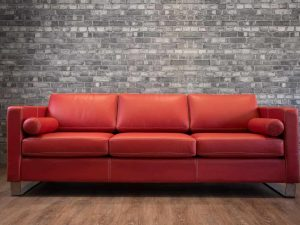 Leather sofa trento