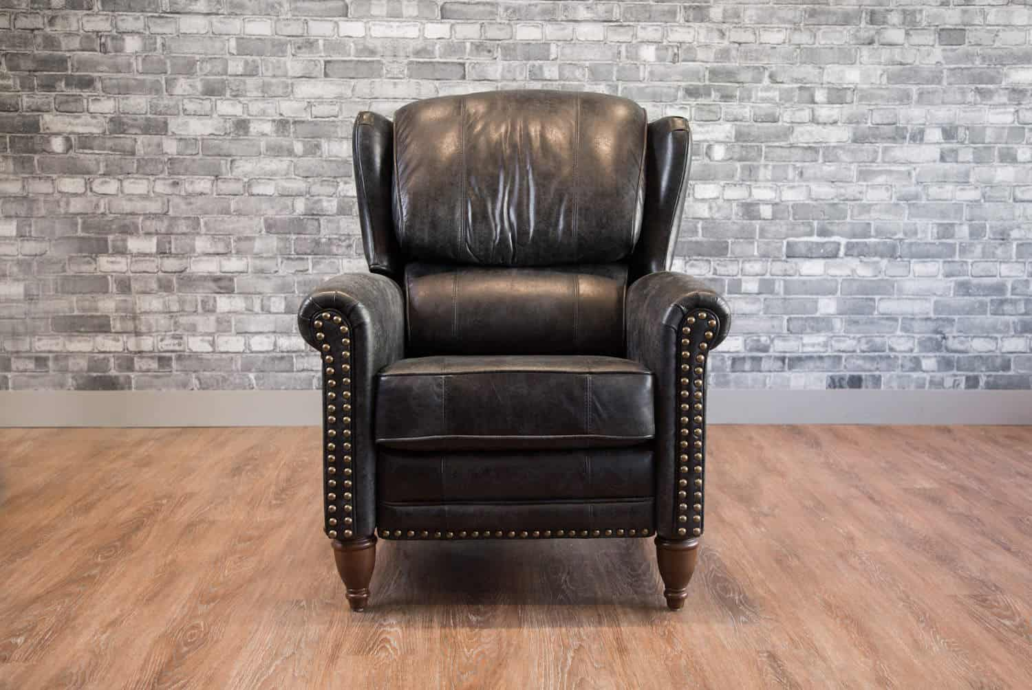 Picture of: The Jameson Recliner Wingback Leather Chair Canada S Boss Leather Sofas And Furniture