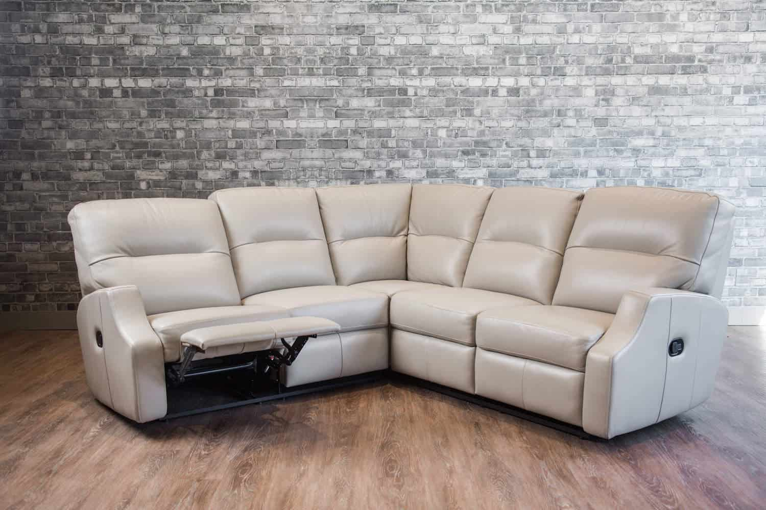 The Saturn Reclining Leather Sectional Canada S Boss