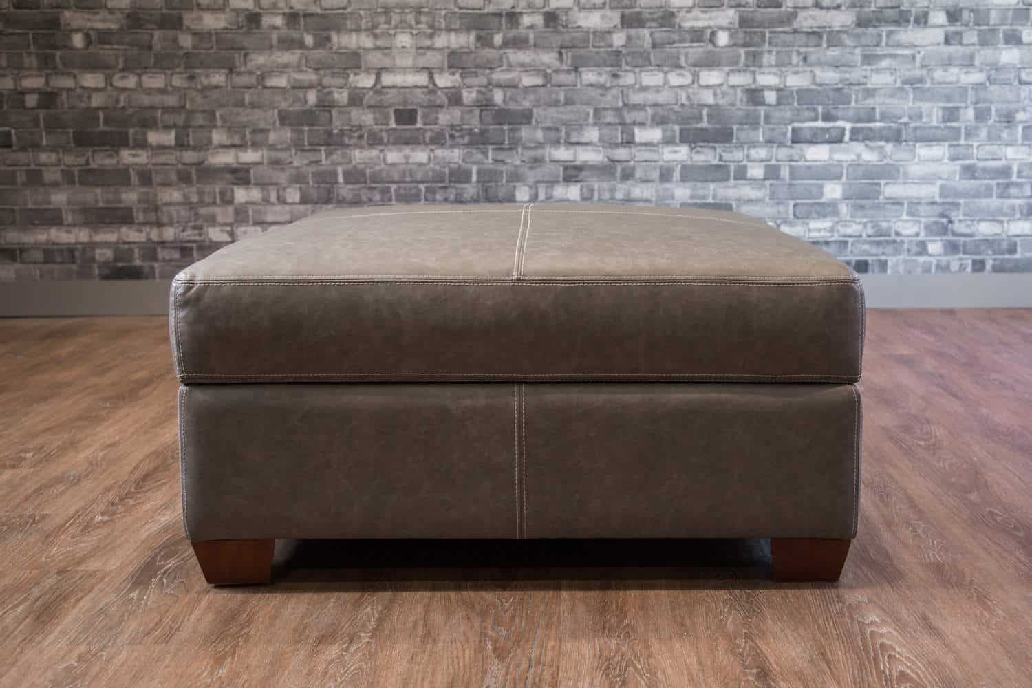 The Large Square Storage Ottoman Collection Canada S Boss Leather Sofas And Furniture