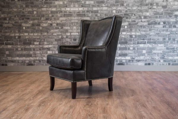 leather chair accent duke