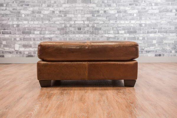 square ottoman leather