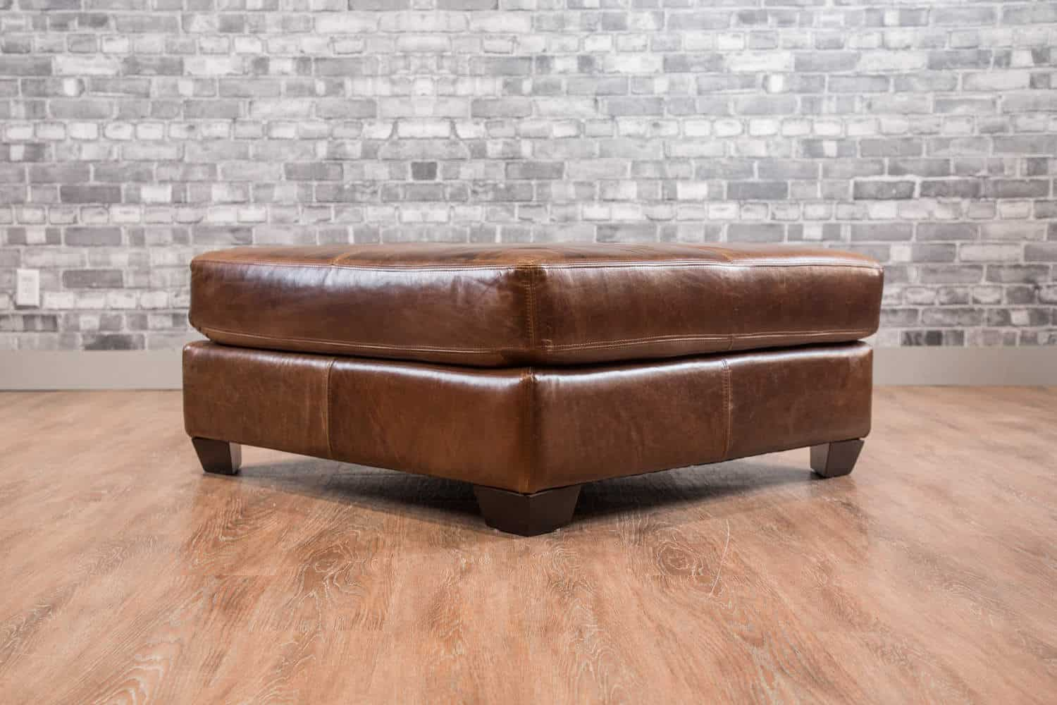 The Classic 40x40 Leather Ottoman Collection Canada S