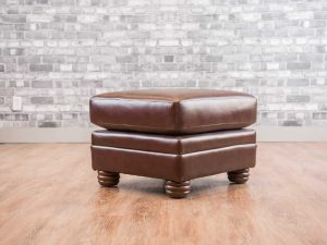 small ottoman leather sofas