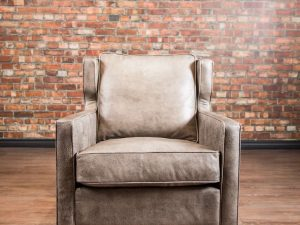 leather accent chair twain