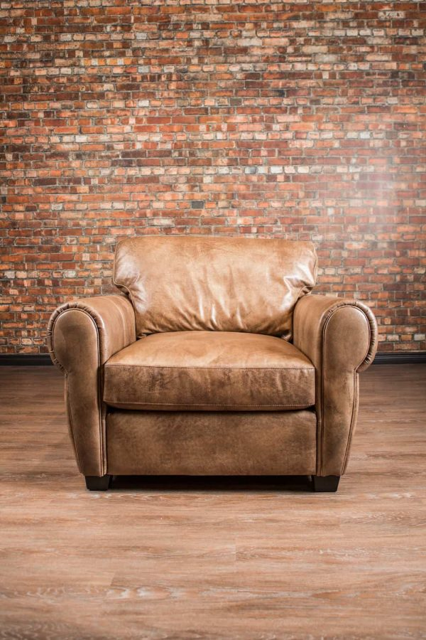 leather chair in half
